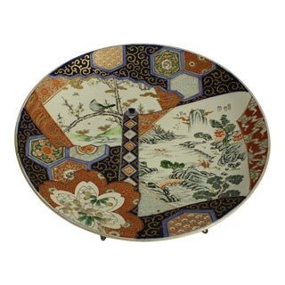 19th Century Antique Imari Charger For Sale