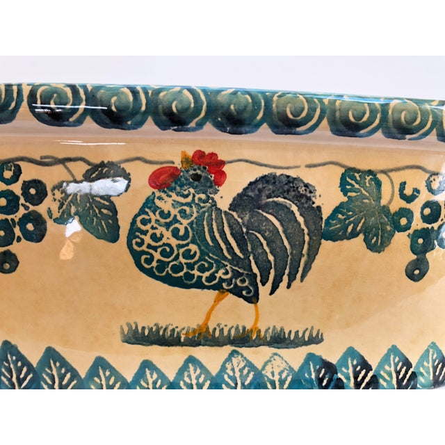 Turquoise Large Vintage Italian Jardiniere For Sale - Image 8 of 13