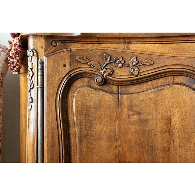 Antique French Walnut Enfilade 3-Door Sideboard For Sale In Sacramento - Image 6 of 11