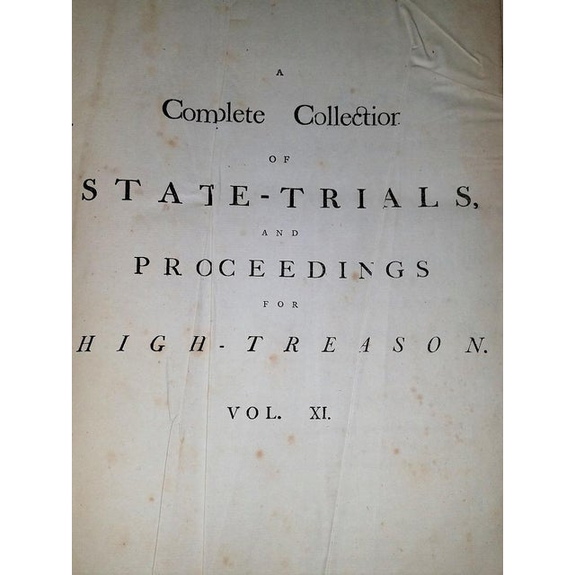 Red 1781 State Trials for High Treason - 5 Volumes - Historic For Sale - Image 8 of 13