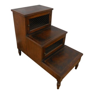 19th Century Mahogany Library Steps For Sale