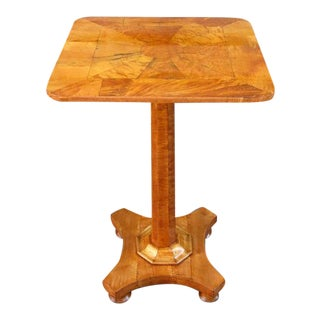 19th Century English Regency Birdseye Maple Occasional Pedestal Table