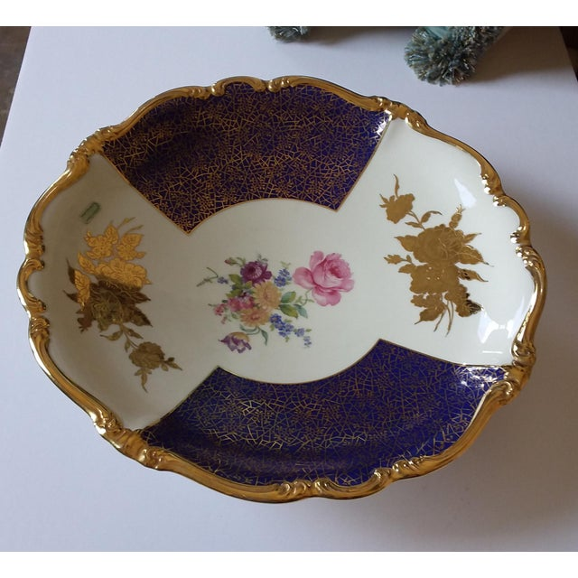 Blue Large Rosenthal Charger Bowl For Sale - Image 8 of 8