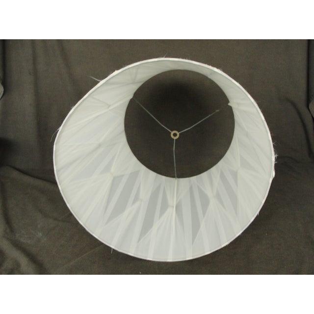 Vintage Mid-Century Modern Cloth Lamp Shade - Image 7 of 7