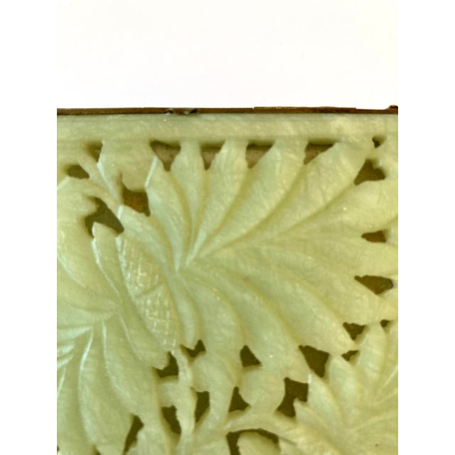 Gemstone Antique Chinese Jade & Brass Box For Sale - Image 7 of 9