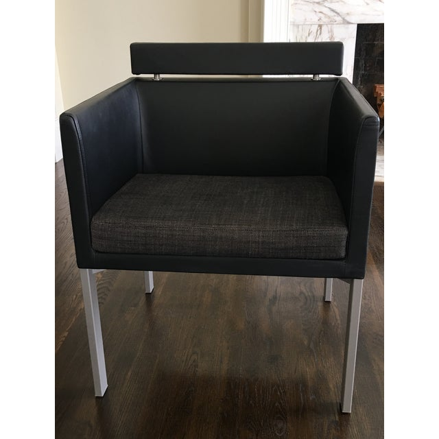 Montis Black Leather Armchair For Sale In Nashville - Image 6 of 6