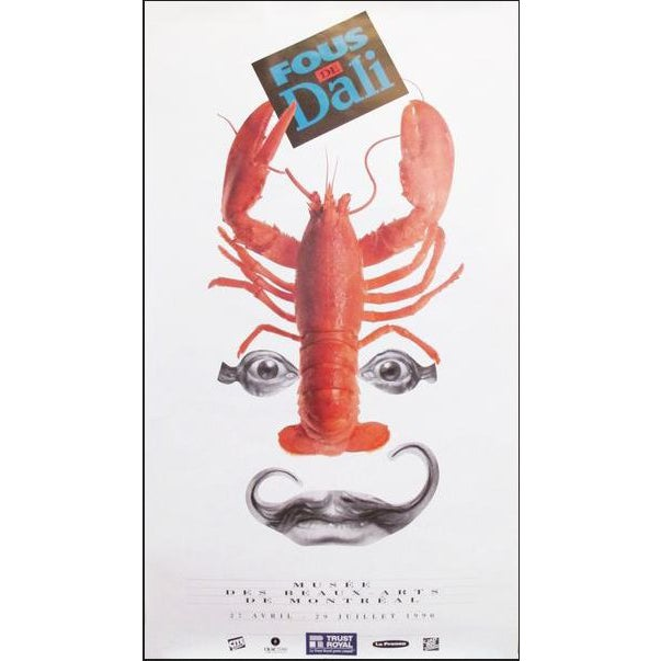 1990 Montreal Exhibition Poster, Fous De Dali For Sale
