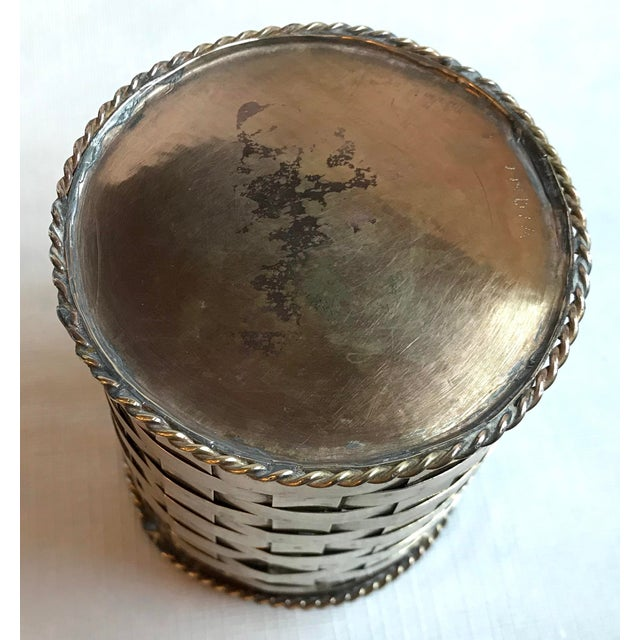 Vintage Brass Woven Pencil Can For Sale In Dallas - Image 6 of 7