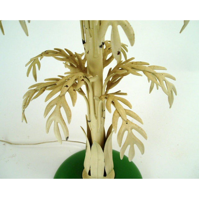 1960s Mid-Century Palm Leaf Table Lamp For Sale - Image 5 of 7
