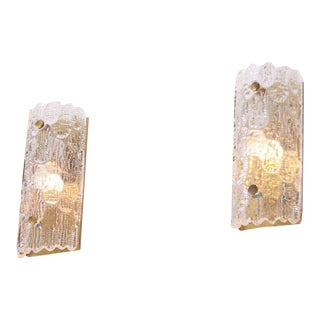 Pair of Wall Lamps by Carl Fagerlund for Orrefors For Sale