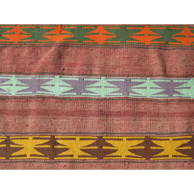 "Textile Vintage Anatolian Handmade Kilim Runner-3'x11'4"" For Sale - Image 7 of 13"