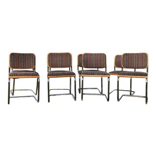 1980s Set of 8 Marcel Breuer Cantilever Dining Chairs For Sale