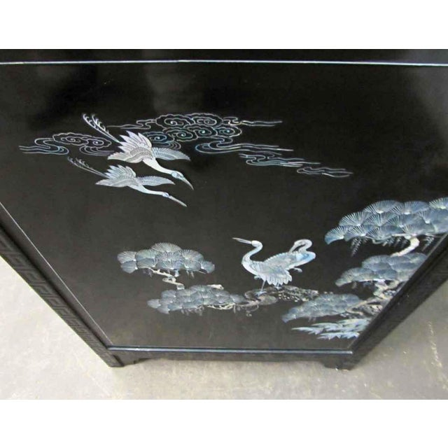 Asian Sideboard With Glass Top For Sale - Image 9 of 10