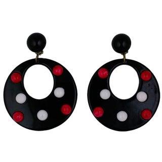 Mod Resin Hoop Earrings For Sale