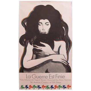 """1967 Original Vintage Poster, """"La Guerre Est Finie"""" by Milton Glaser"""