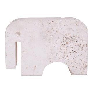 1970s Vintage Fratelli MannelliTavertine Elephant For Sale
