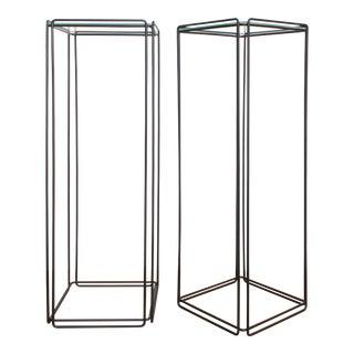 Max Sauze Post Modern Isocele Pedestal -80s Minimalist Stand For Sale