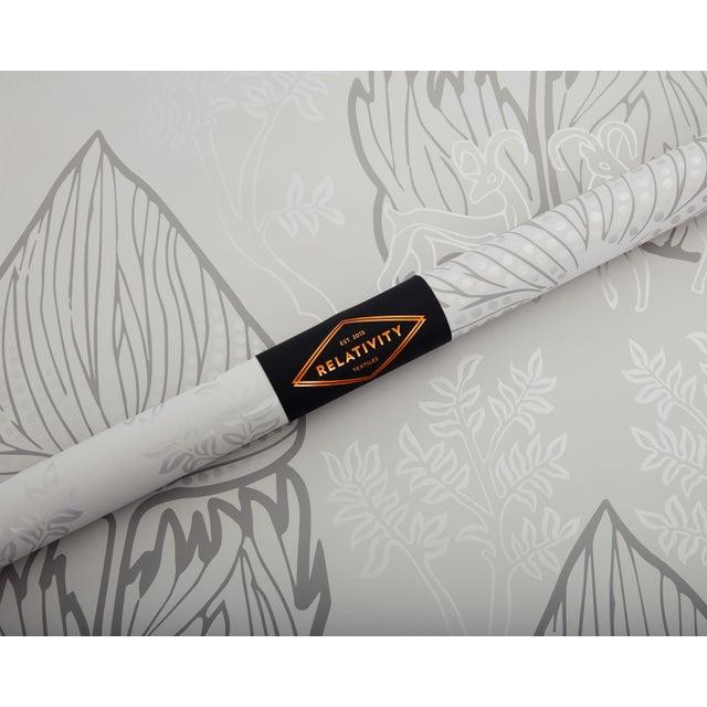Art Nouveau Arabian Nights Gray Wallpaper - 1 Double Roll For Sale - Image 3 of 4