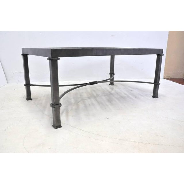 Gray 19th Century French Balcony Polished Iron Coffee Table Base For Sale - Image 8 of 8
