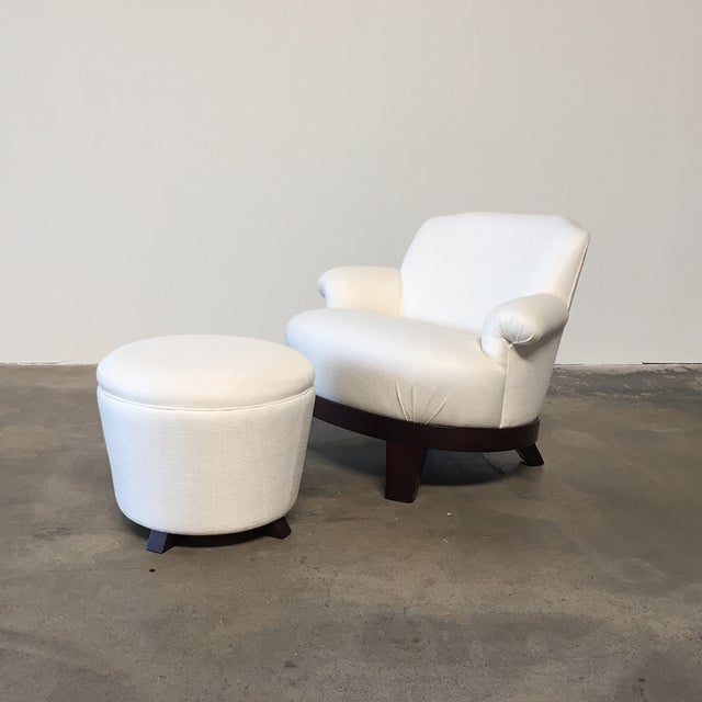 Promemoria 'Gacy' Lounge Chair & Ottoman Great things come in small packages. This lovely chair and ottoman is petite but...