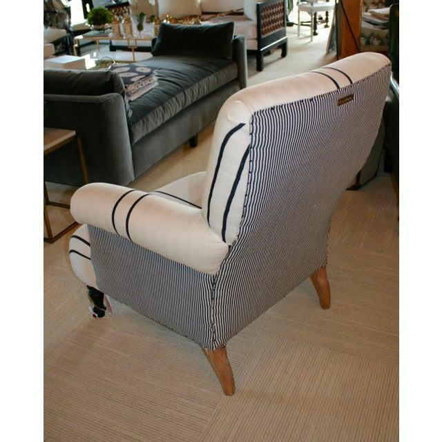 Cotton Bunakara Fingerprint Arm Chair For Sale - Image 7 of 7