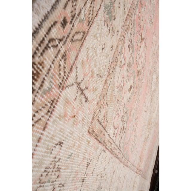 "Vintage Anatolian Oushak Kars Handwoven Distressed Ushak Area Rug 5'12"" X 9'8"" For Sale In Dallas - Image 6 of 11"