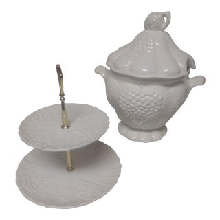 Vintage Tureen & Tray Set - 3 Pc
