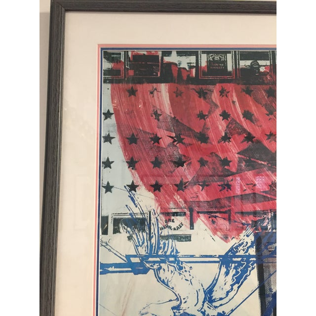 "White ""People for the American Way"" Rauschenberg Signed Print For Sale - Image 8 of 11"