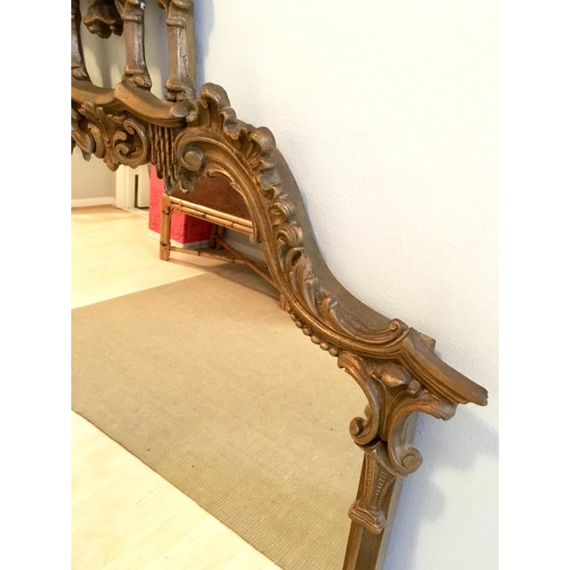 Vintage LaBarge Style Chinoiserie Chippendale Pagoda Bell Mirror For Sale - Image 4 of 11
