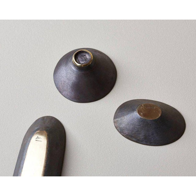 2010s Set of Three Bowls by Carl Auböck For Sale - Image 5 of 6