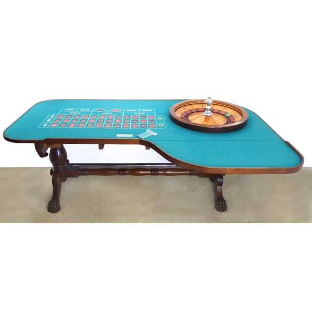 Traditional American Great Gatsby Era 1920s Mahogany Roulette Table From O'Dwyer's Casino For Sale - Image 3 of 12