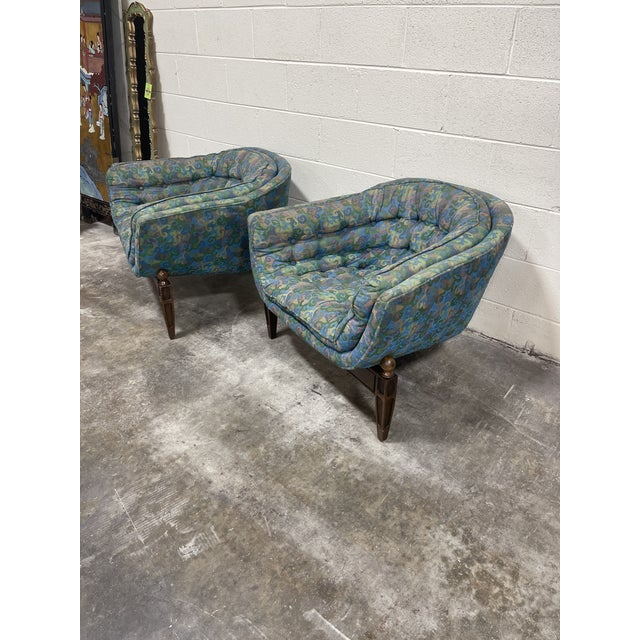 Mid-Century Modern 1970s Castro Convertible Barrel Chairs - a Pair For Sale - Image 3 of 8