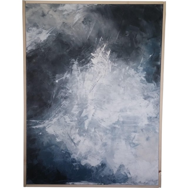 """""""Layered Clouds"""" Framed Abstract Art by Kris Gould - Image 1 of 6"""