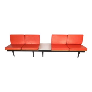 Mid-Century Modern Lounge Chair Unit and Modular Table by Herman Miller