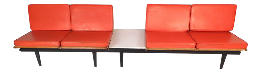 Mid Century Modern Lounge Chair Unit And Modular Table By Herman Miller