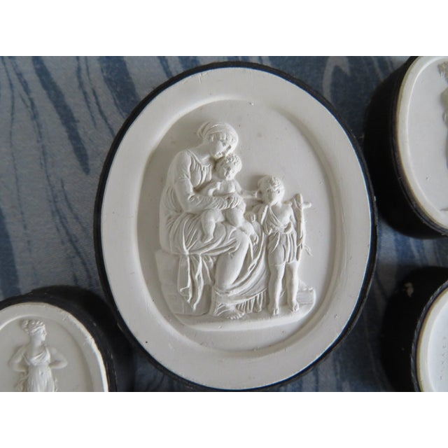 Mid 19th Century 19th Century Grand Tour Neoclassical Plaster Intaglios - Set of 7 For Sale - Image 5 of 13