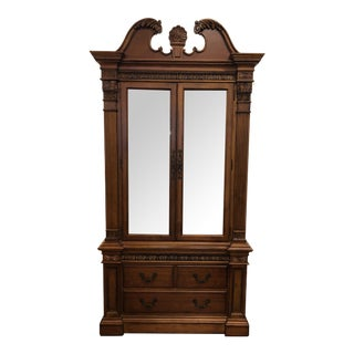 Two Piece Traditional Style Display Cabinet