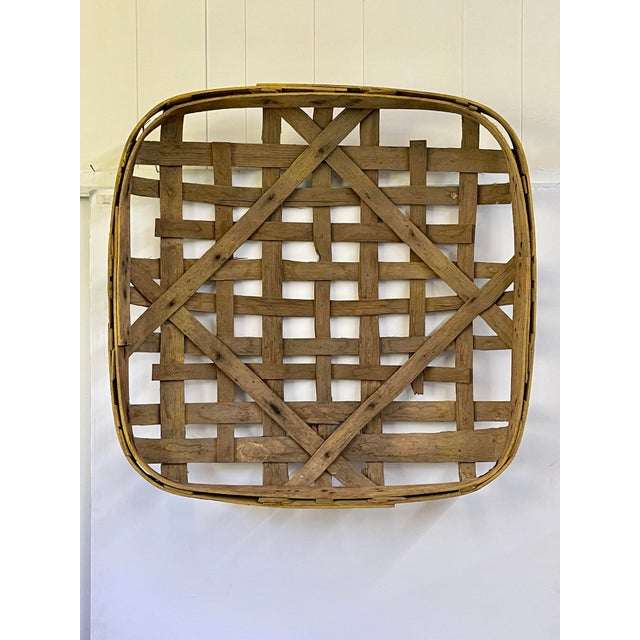 Large Authentic Antique Tobacco Basket For Sale - Image 12 of 12