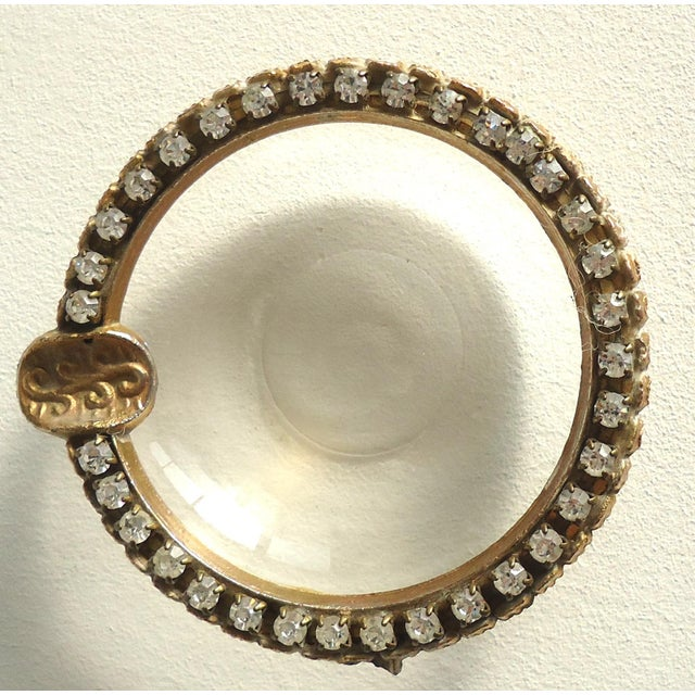 Vintage Rhinestone & Glass Ashtray - Image 3 of 3
