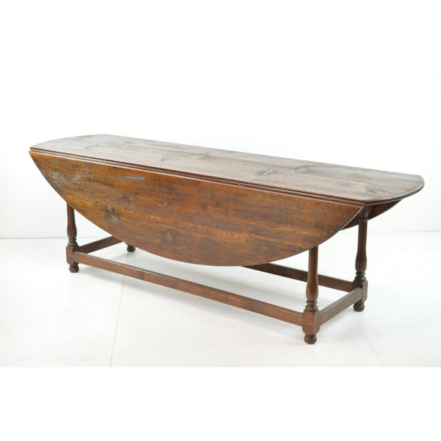 Antique Oval Drop Leaf Dining Table - Image 3 of 9