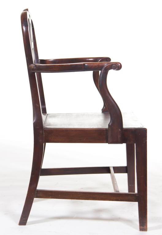 18th Century English Chippendale Arm Chairs   A Pair
