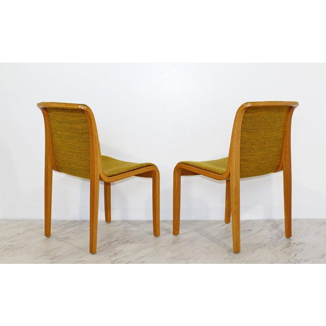 Late 20th Century 1970s Mid-Century Modern Bill Stephens for Knoll Blonde Wood Side Chairs - Set of 4 For Sale - Image 5 of 10