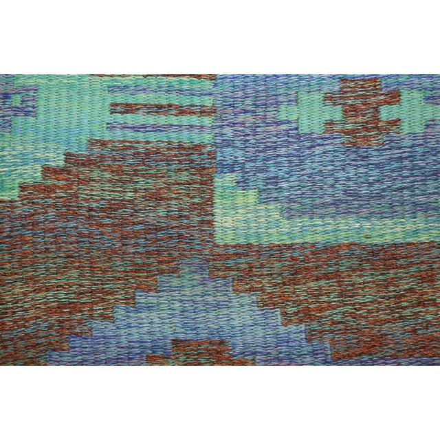 Mid 20th Century Vintage Double-Sided Swedish or Scandinavian Deco Kilim For Sale - Image 5 of 9