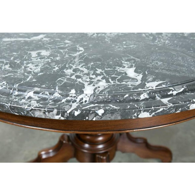 French French Louis Philippe Period Marble Top Gueridon Table For Sale - Image 3 of 9