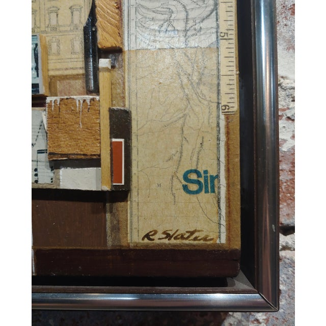 Roderick Slater -One to Nine - Mixed Media Collage Painting For Sale - Image 4 of 7