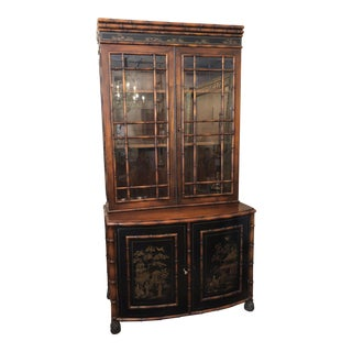 20th Century Chinoiserie Faux Bamboo Cabinet For Sale