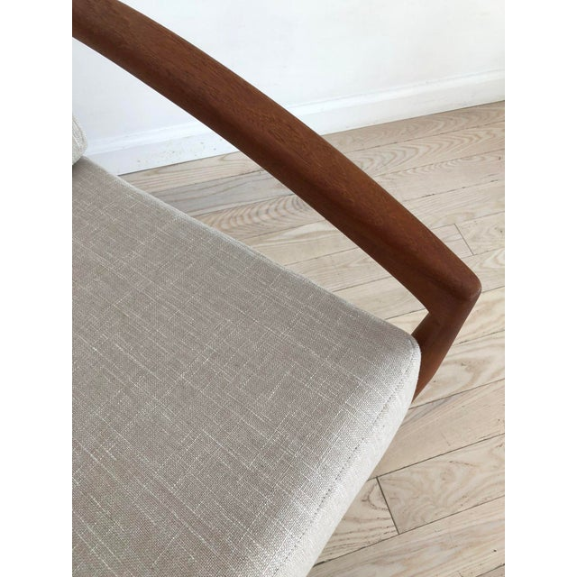 1950s 1955 Mid-Century Modern Kai Kristiansen Teak Paper Knife Easy Chair For Sale - Image 5 of 13