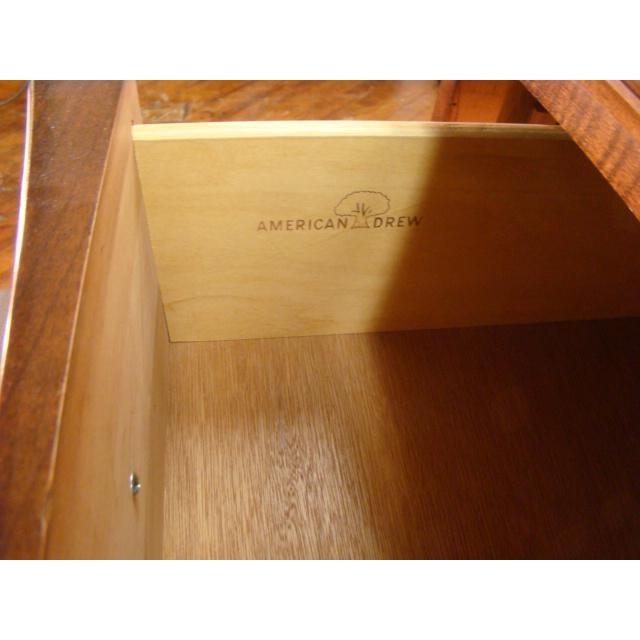 Wood 1990s Traditional American Drew Cherry Dresser For Sale - Image 7 of 8