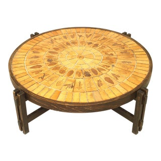 French 1960s Round Coffee Table For Sale