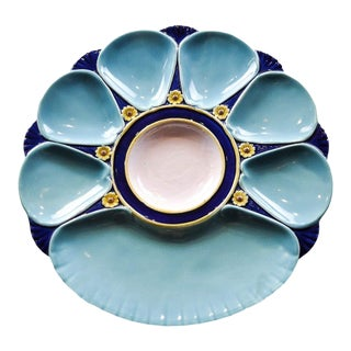 Minton Majolica Oyster Plate For Sale